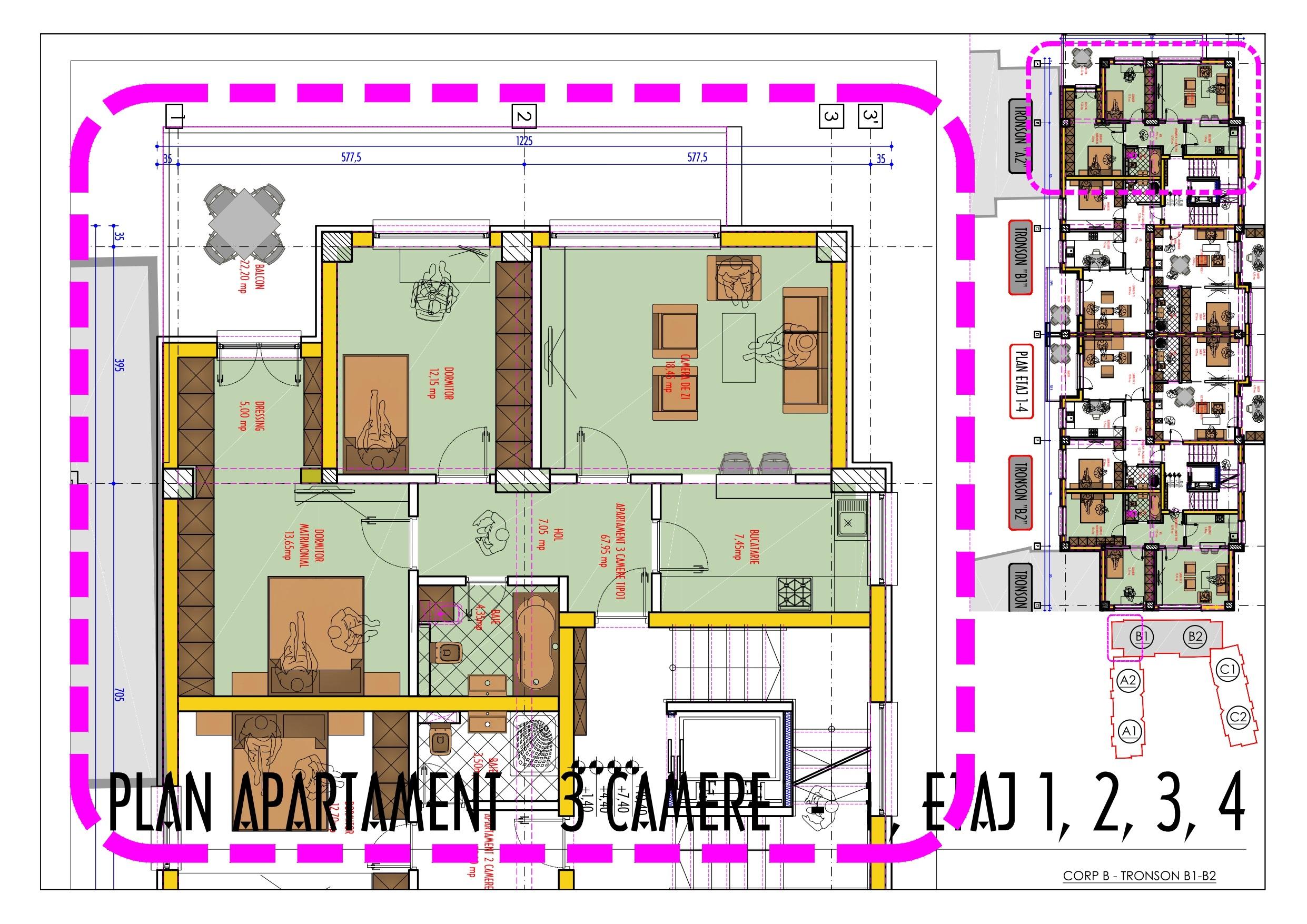 apatament 3 camere